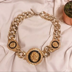 Rococo Gold Lion Decorative Large Chain Necklace